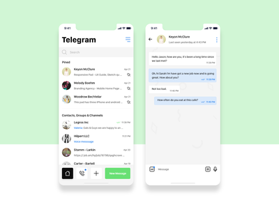 Telegram reDesign search new xd channel group message contacts social messanger uiux redesign telegram ios designer adobe xd vector app ux ui design