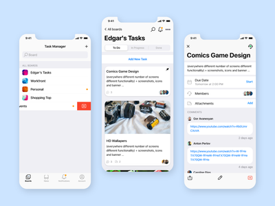 Task Manager For iOS system perfect pixel manager task ios adobe xd app ux ui design