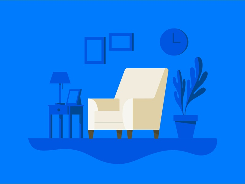 Chair illustration clutter stuff furniture chair