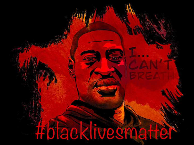 Black Lives Matter illustration enough is enough black lives matter social art procreate illustrations digital illustrations vector art digital art ahmaud arbery george floyd
