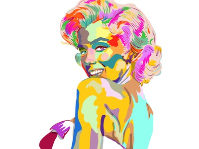 Marilyn portrait with color