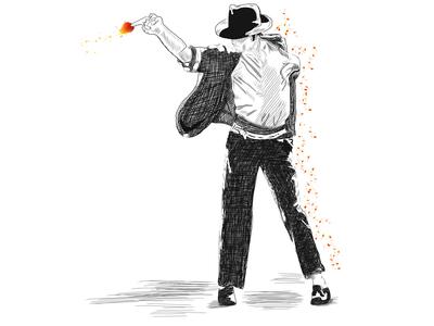 Michael Jackson dancing the magic