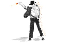 Michael Jackson dancing the magic