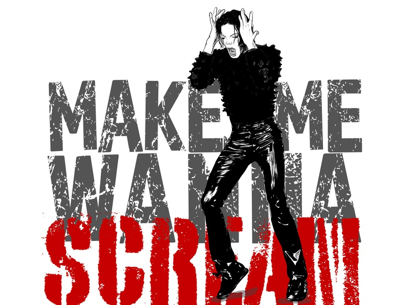 Michael Jackson Scream graphic design graphic designer design adobe illustrator draw adobe illustrator adobe draw type and illustration pop culture line illustration illustrations illustration art famous people michael jackson illustrator digital art typography illustration