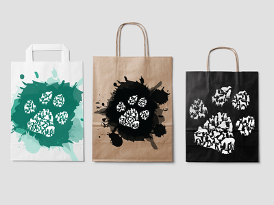 Dog paws Tote