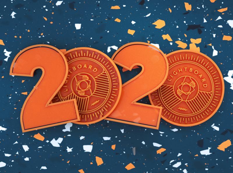 02/02/2020 logo 2020 cinema4d arnoldrender 3d