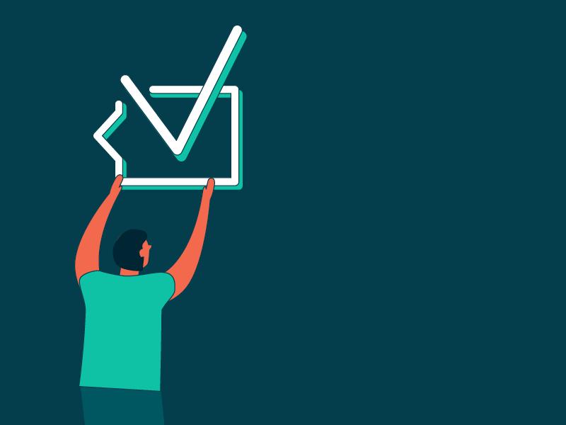 Checkbox for a checklist. Get it? illustrator checkbox vector illustration