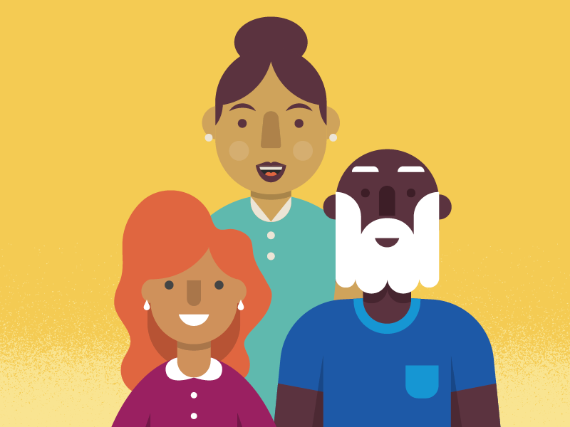 Happy People vector people illustration