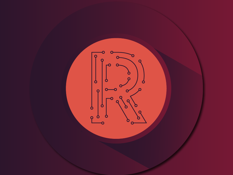Circuitry R (Logo Option) letter identity mark logo branding