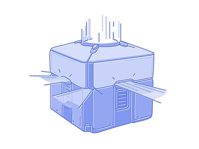 Loot Box video game game loot box illustration