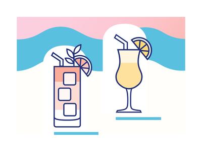 Beverage Icon Set icon set brand assets branding illustrator illustration icon