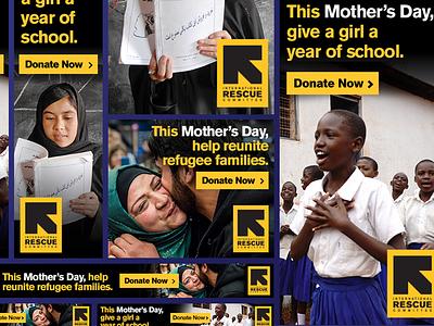 Nonprofit Ad Set branding advertisement ad design non profit display ad