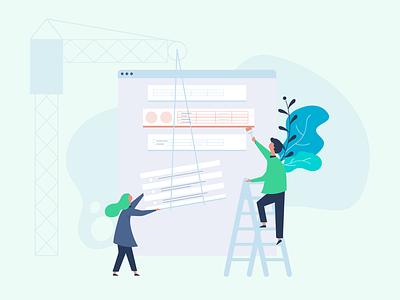 Your Report is Downloading website illustration product illustration people illustrator vector illustration