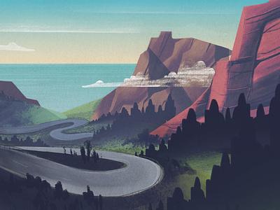 Optimize Your Drive Illustration design illustrator blog header blog cover hero illustration