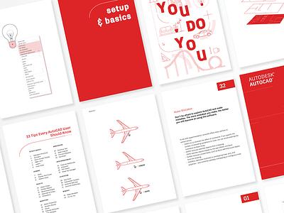 AutoCAD Tips Booklet booklet design booklet pdf illustrator ebook layout ebooks layout design layoutdesign layout illustration