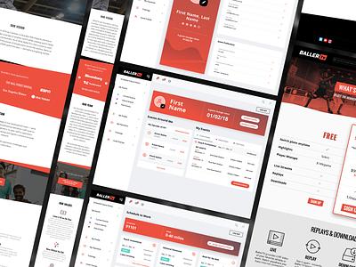 Desktop and Mobile Mockups website wireframe mockup dashboard web app typography responsive design mobile ux web  design