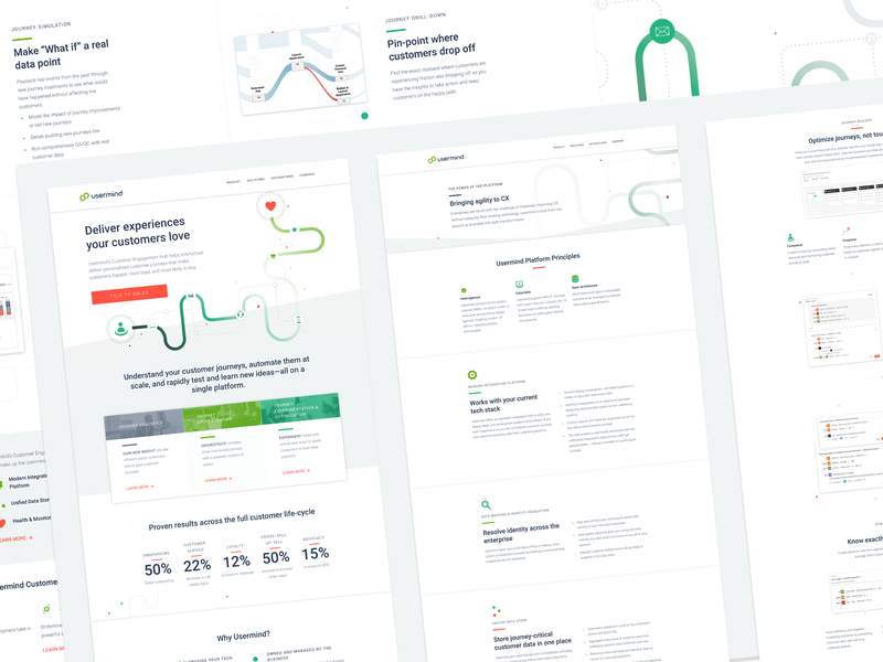 Usermind Website design 👩💻 angle mockup grid portfolio webflow branding ux web  design design ui web