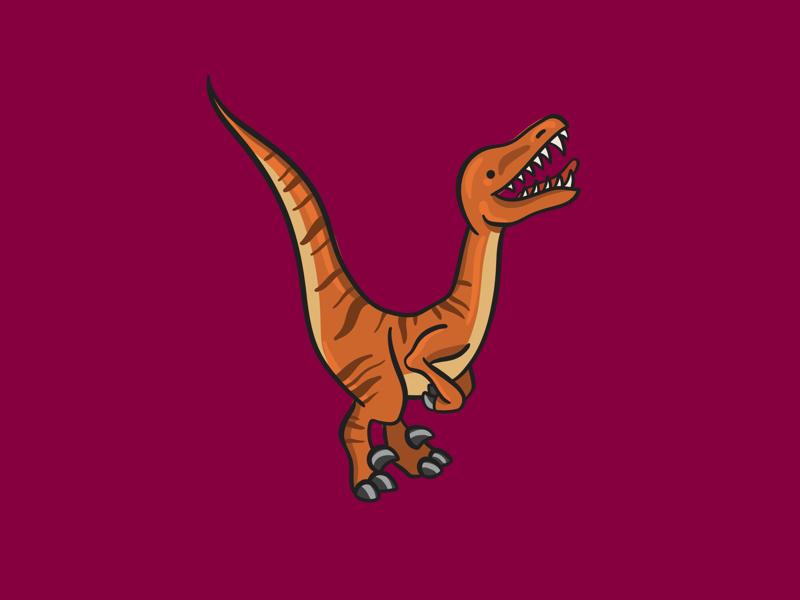 Velociraptor cute kids procreate digital illustration v alphabet raptor dinosaur velociraptor