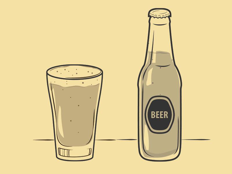 Beer beer illustration food