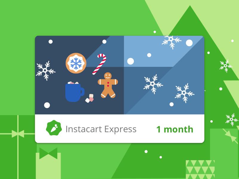 Instacart Express Digital Holiday Gift Cards