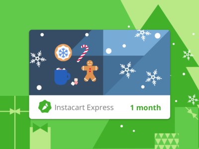 Instacart Express Digital Holiday Gift Cards