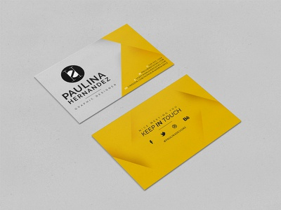 New Business Cards cards print business logo clean simple stationery yellow black identity business card card