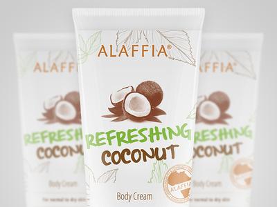 Alaffia packaging lotion bottle 3d branding illustration typography