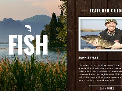 Fishing Website fishing fish nature web outdoors web design