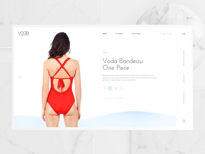 Swimwear Brand WebDesign koma ui pc swimwear swim ux clean web