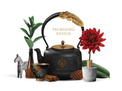 Ahista Tea Packaging Design design packaging tea ahista