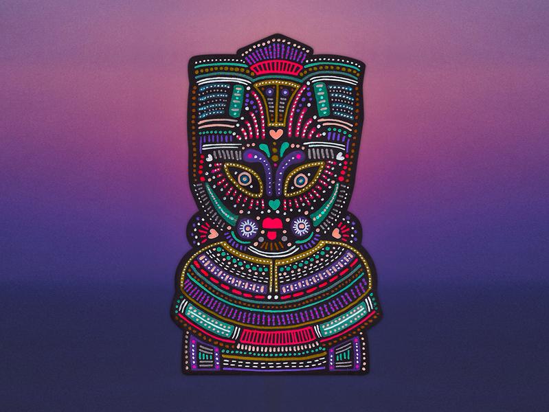 Mesmerizing Beats african colorful tribal design artoftheday artist illustration