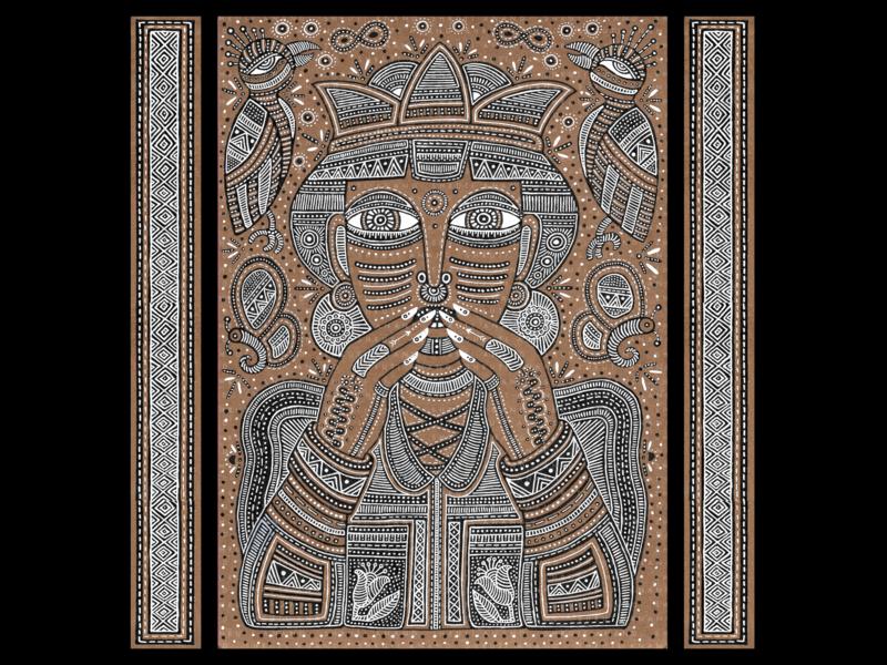 Illustrations (Set of 4)   Part 1 (Full project on Behance) illustration365 tribal artoftheday artist illustration illustrator