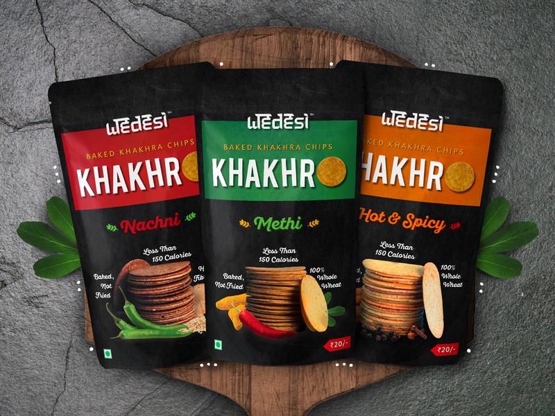 WeDesi - Khakhra Chips Packaging Design wedesi pouch packaging design indian graphicdesign chips khakhra packagingdesign