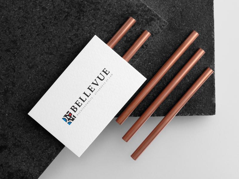 Bellevue Rechtsanwälte   Logo Design design bellevue location branding and identity logo design branding law firm switzerland logo design