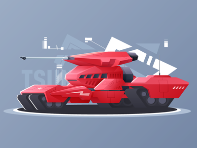 海啸坦克 Tsunami Tank design illustration