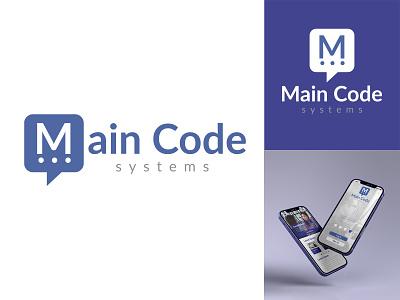 Main Code Systems lettermark wordmark typography ui logo branding graphic design