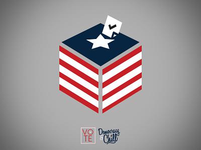 Democracy And Chill 3 america usa democracy and chill typography chill democracy ballot voting vote