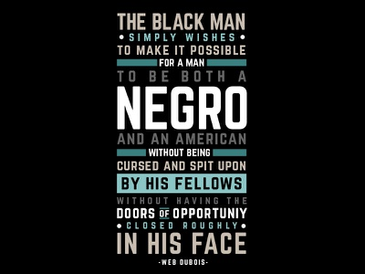 Black & American poster african american black dubious wisdom quote typography