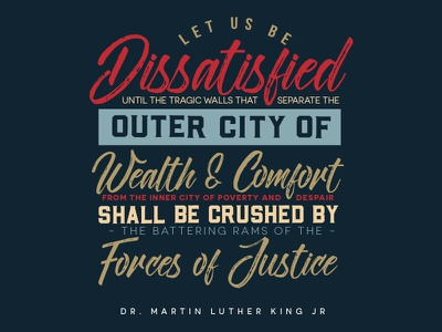 MLK Day 2018 knowledge poverty wealth freedom martin luther king poster african american black mlk wisdom quote typography