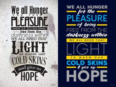 That Light Redesign type skin cold quote light darkness hope emotions typography