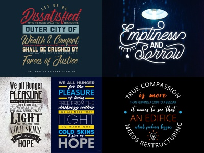 Best of 2018 typography dribbble best if 2018 2018