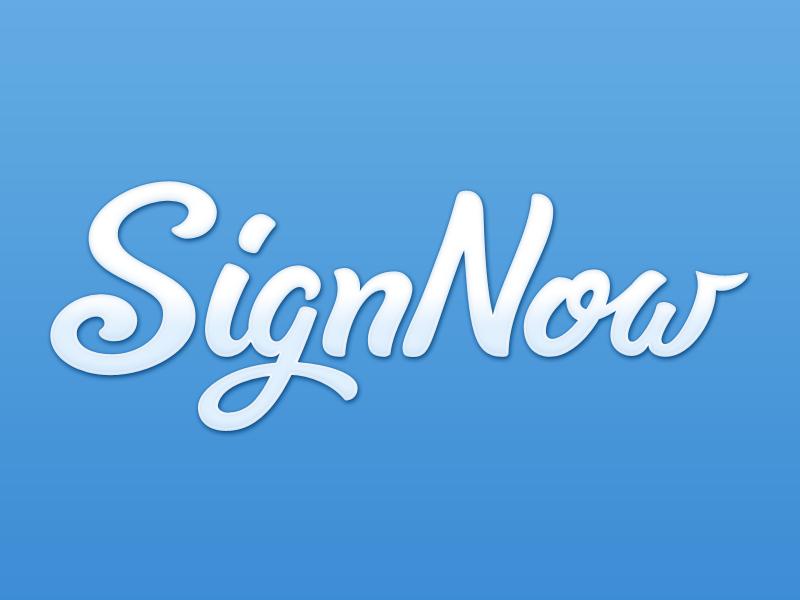 SignNow logo redesign (web app version) redesign script signature signnow logo