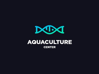 Fish breeding logo aqua water breeding fish