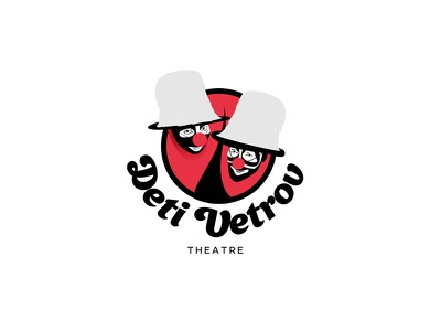 Mime theater logo clown show theater theatre mime