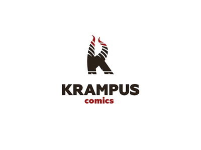 Krampus comics logo letter horns krampus art comics