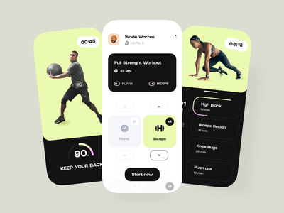 Fitness Mobile App UX/UI Design sports ios concept app mobile ux design ui