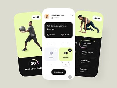 Fitness Mobile App UX/UI Design sports ios concept app mobile ux design ui