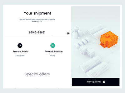 Delivery - UX/UI Design interaction animation delivery concept mobile app design ux ui