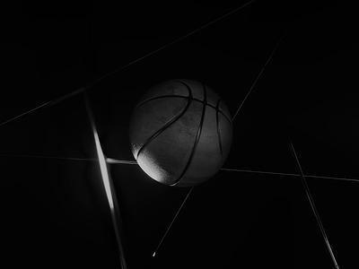 Cut the Net motion graphics animation basket basketball ball 3d