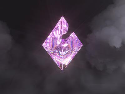 Ethereum 3D Animation glass finance crystal purple cinema c4d octane cryptocurrency eth animation nfts 3d